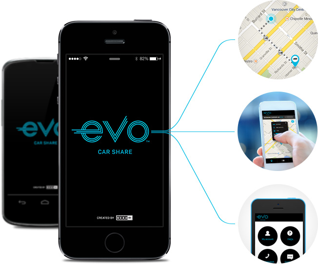 car share from anywhere get the app evo car share. Black Bedroom Furniture Sets. Home Design Ideas