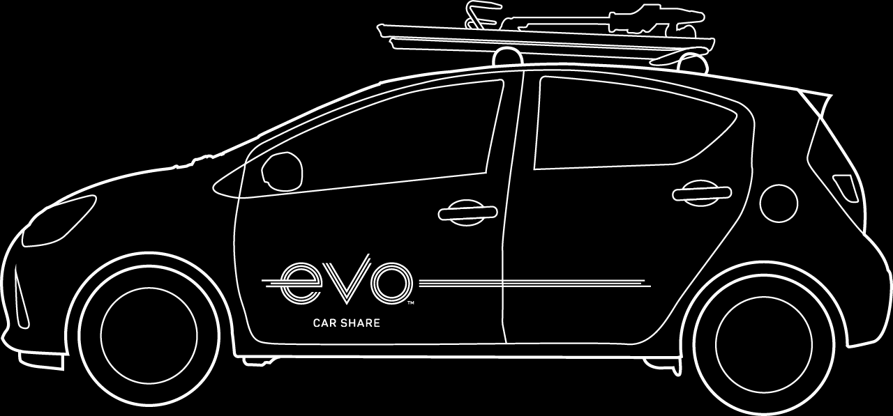Evo Car Share cars have everything you need