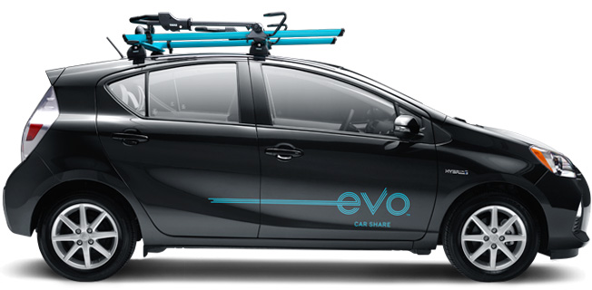 Evo Car Share uses the spacious Toyota Prius