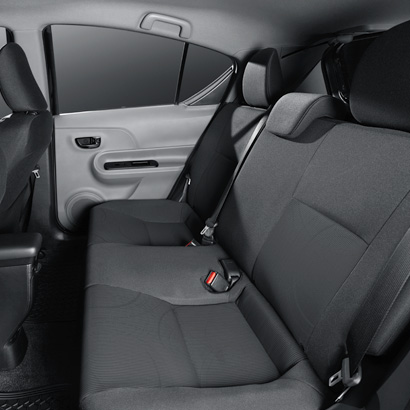 Spacious seating with Evo Car Share