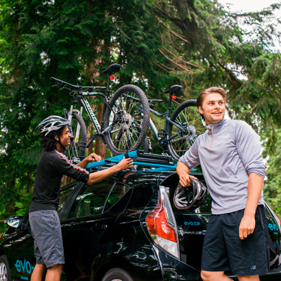 biking with evo car share
